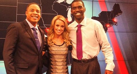 #SmokeShow Molly McGrath with Randy Moss